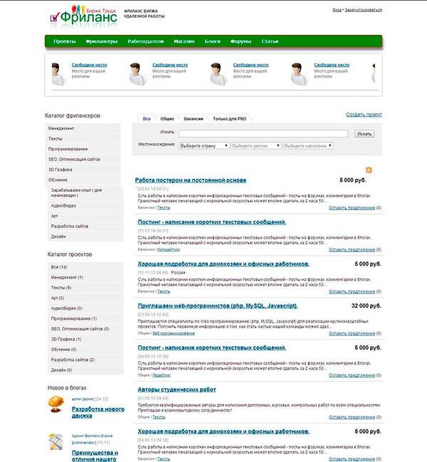 сайт для фрилансеров в украине
